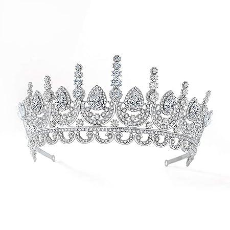 Yangxuelian Coronas de Cristal Corona para Las Mujeres de la ...