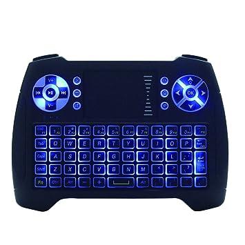 Mini teclado inalámbrico Touchpad Ratón Combo T16 azul retroiluminación teclado y # xFF0 C; 2