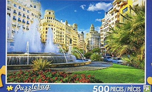 Main City Square Valencia Spain Puzzlebug 500 Piece Jigsaw Puzzle by Puzzlebug LPF