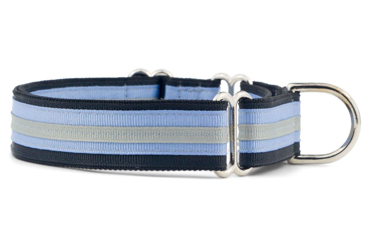 If It Barks 1'' Martingale Collar for Dogs, Adjustable Nylon, USA Made, Medium, Black Ice