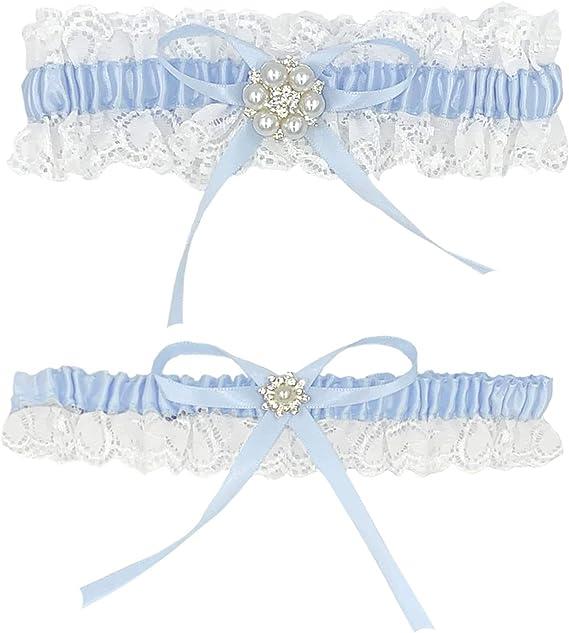 Something Blue Lace Garter Blue Pearl Lace Garter Blush Lace Garter Blue Lace Wedding Garter- MEADOW GARTER SET Blue Bridal Garter