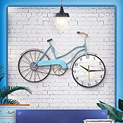 Good craft wall clock wall clock. 22.8 inches by 14.5 inches. Creative Bicycle Wall Clock - Metal Iron Wall Decoration