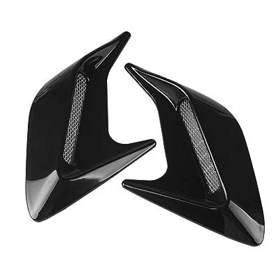 Andux Land Car Vent Grille Cover Decorative Air Flow Intake 2pcs JFK-02 (Black): Automotive