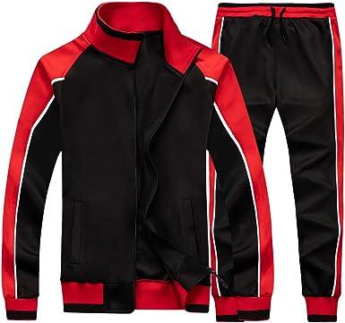 MANTORS Mens 2 Piece Tracksuit Long Sleeve Activewear Running Jogging Sweatsuits