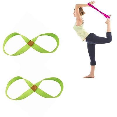Courroie d'étirement pour le yoga, sangle multi-boucles de qualité supérieure, poignées rembourrées pour la forme physique, yoga, danse, pilates, physiothérapie, réadaptation a