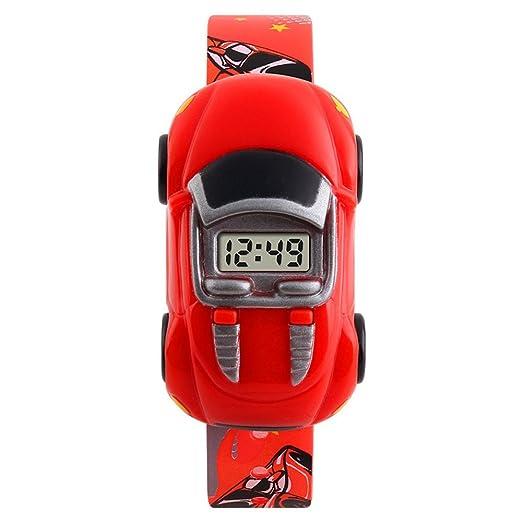 Moda Linda Relojes para Niños - Correa de Plástica Creativa Separable Coche Relojes Digital para Niños, Rojo: Amazon.es: Relojes