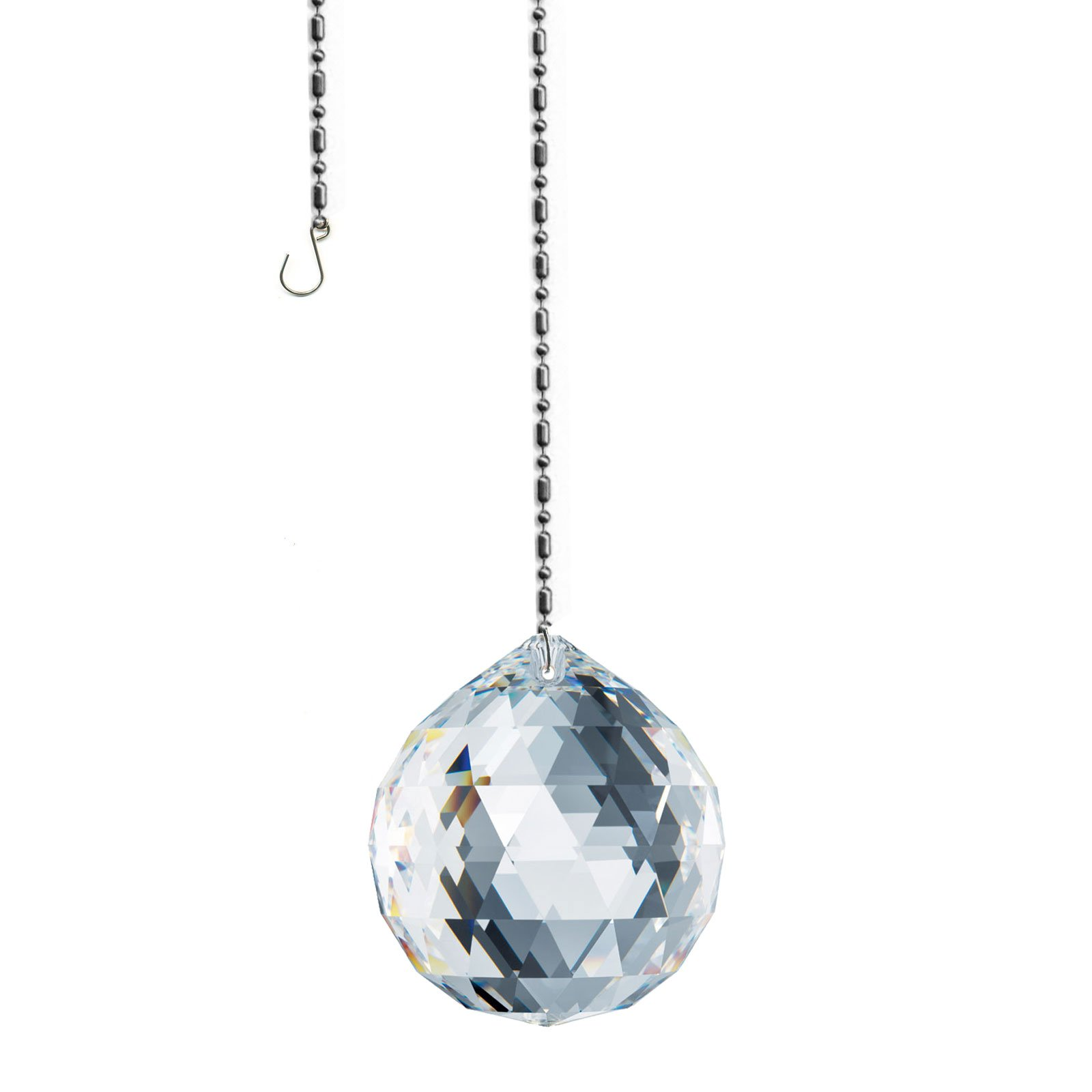 Swarovski Spectra Crystal 40mm Clear Lead Free Feng Shui Crystal Ball Sun Catcher, Austrian Crystal with Certificate