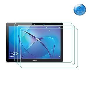 szjckj Magnetico Custodia + 2 Pezzi HD Vetro Temperato per Huawei MediaPad T3 10 (9,6'), Alta qualità Film Pellicola Screen Protector - Pieghevole Cover schede Copertura Antiurto Protettiva - LW24