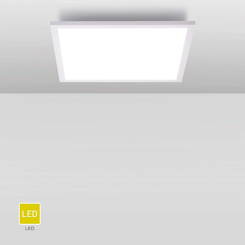 2.400 Lumen 45x45cm Wei/ß 24 Watt 4.000 Kelvin W LED Deckenlampe Briloner Leuchten Panel