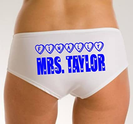 6f4d286772a9f Poppy And Petal Personalised Wedding Knickers, Bridal Pants, Finally Mrs  Knickers, Wedding Knickers