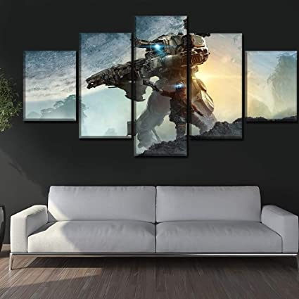 Quadri modulari Wall Art Canvas Painting Stampe 5 Pezzi ...