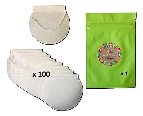 Bolsita de té vacía para rellenar, biodegradable, 100 unidades + 1 bolsa con cierre en aluminio – Empresa francesa de reciente creación