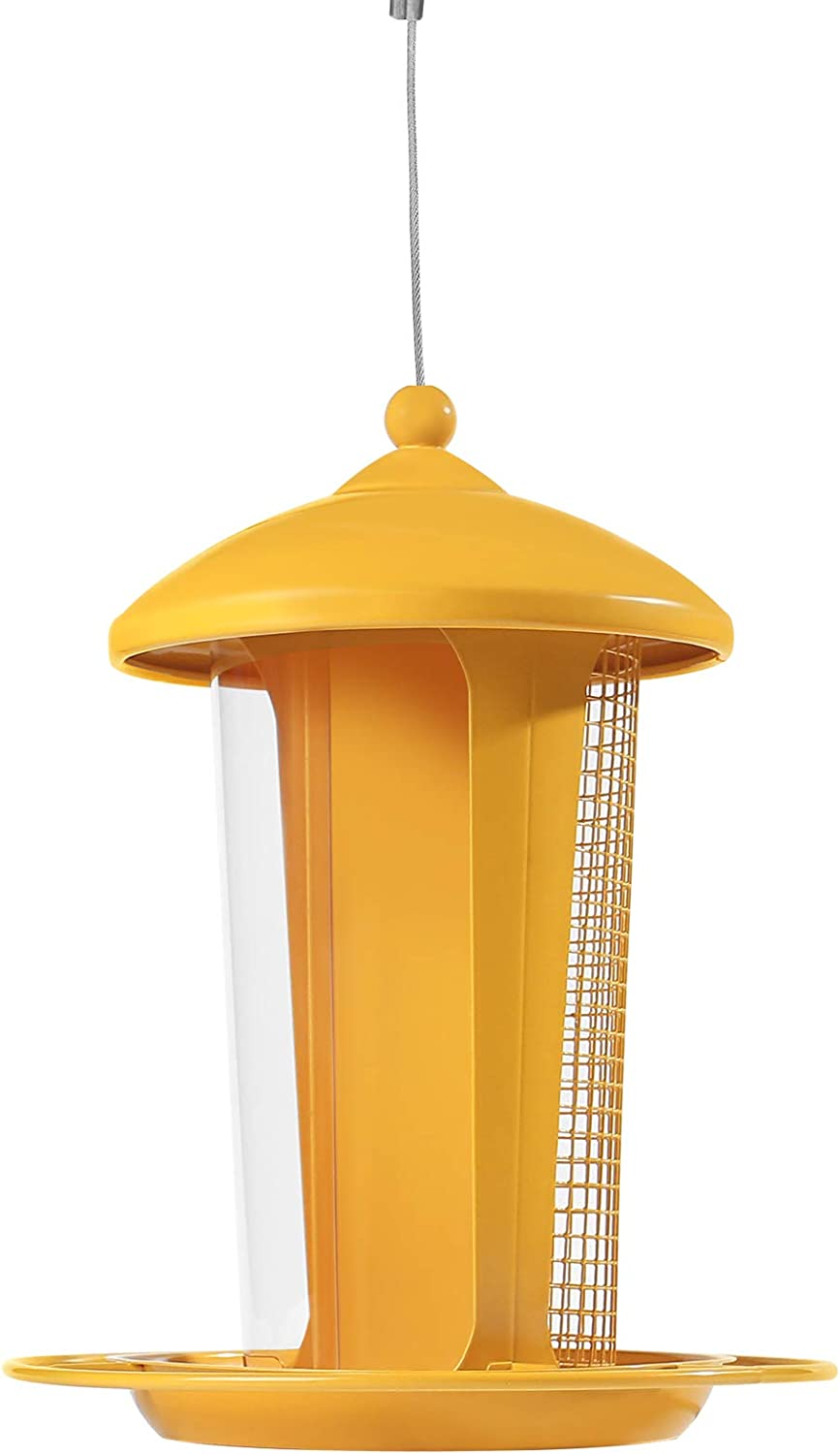 NUOLIDE ,Outdoor Bird Feeder Suitable for Garden Decoration,A Bird Feeder That Can Put Two Kinds of Bird Food Makes It Easier to Attract Birds.