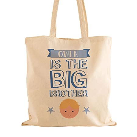 Personalised Big Brother Shoulder Bag Natural Cotton Birthday Gift Ideas For Boys Amazoncouk Kitchen Home