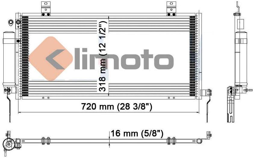 Condenser For Mitsubishi Galant 2004-2011 2.4 L4 3.8 V6
