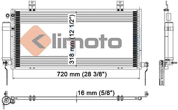 New Condenser For Mitsubishi Galant 2004-2011 2.4 L4 3.8 V6 Lifetime Warranty