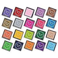 GooMart 20 colores Rainbow Craft Finger Ink Pads para sellos de goma Fabricación de tarjetas