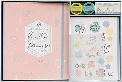 Mr. Wonderful WOA10104ES Kit Scrapbooking para Álbum de Comunión, Color Rosa: Amazon.es: Oficina y papelería