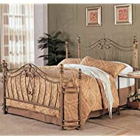 Transitional Iron Bed (California King- 92 in. L x 72 in. W x 52.5 in. H)