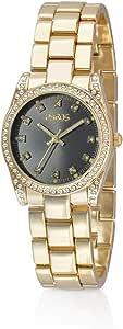 زايروس ساعة للنساء انالوج بعقارب دائرية معدن ذهبي، 15J176F010102W