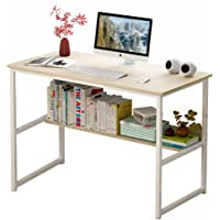 Computer Table Computer Desk Laptop Table Stand Workstation Table with Book Shelf Layer Large Size for Office Home Work…