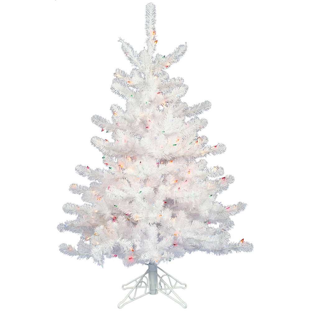 amazoncom vickerman 3 crystal white artificial christmas tree with 50 warm white led lights home kitchen