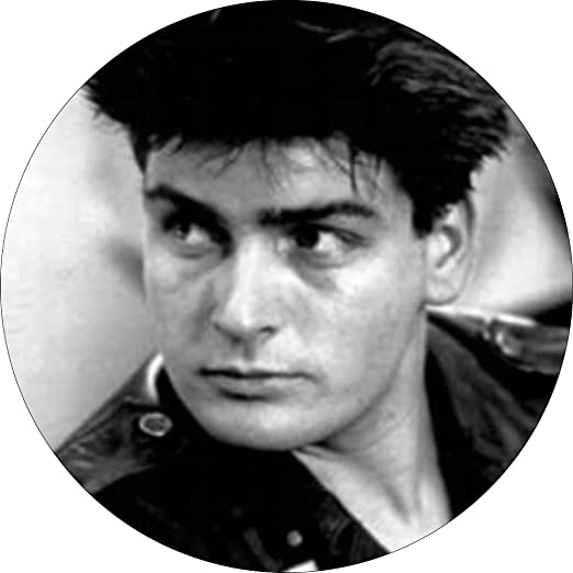 Amazon young charlie sheen black white face shot in leather young charlie sheen black white face shot in leather jacket 1 1 thecheapjerseys Gallery