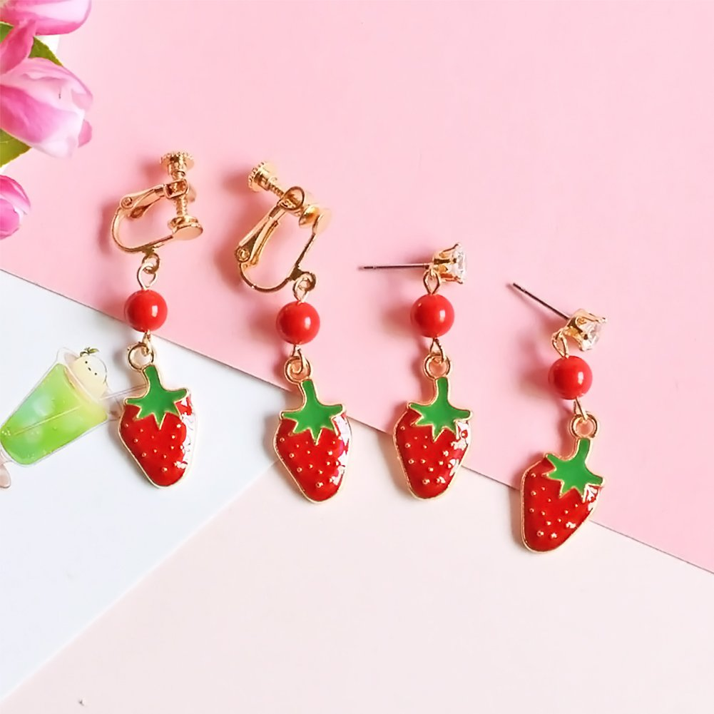 20 pcs Straberry Charms and Pineapple Charms, Fruit Shaped Jewelry Making Pendants, Cute Alloy Beads for Earring, Necklace, Bracelet Jewelry Making and Crafting