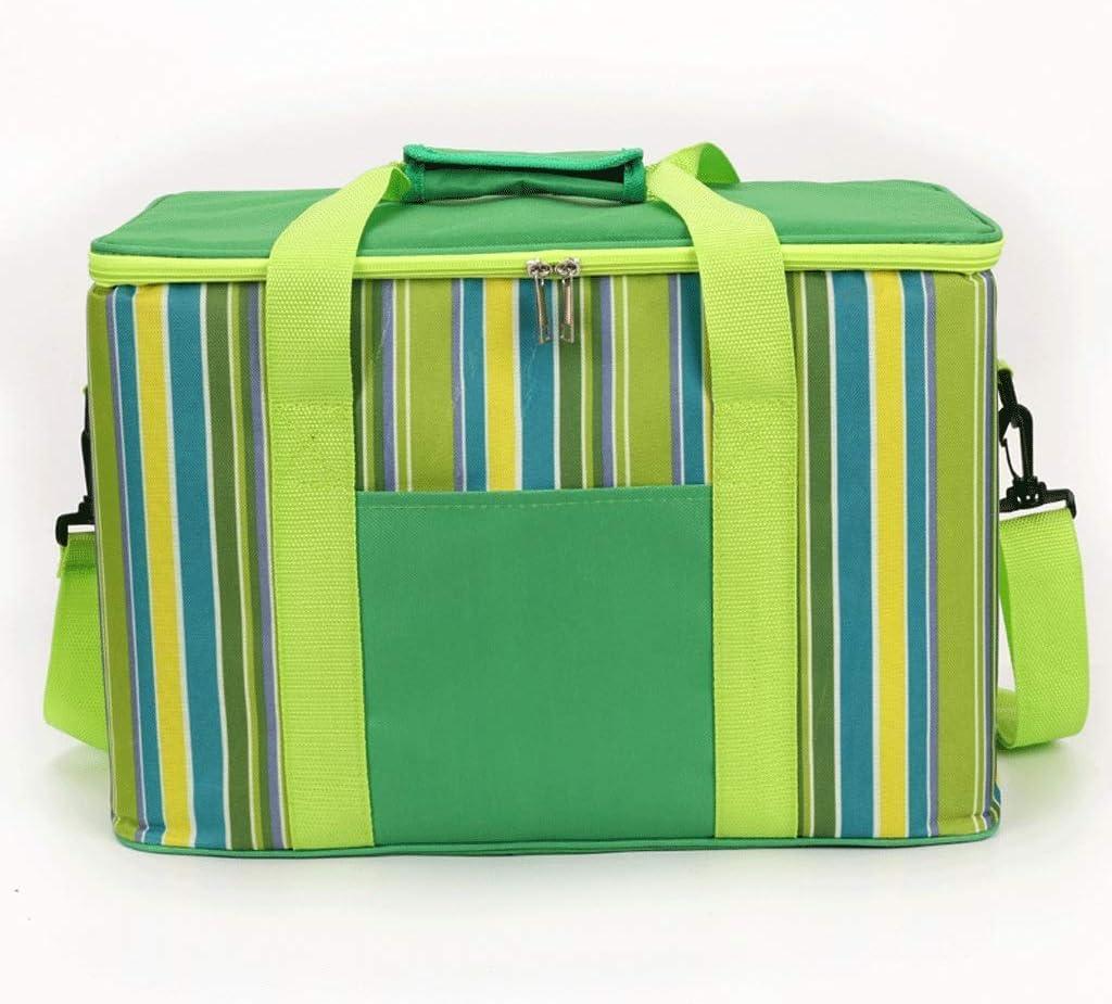 Al aire libre bolsa nevera de picnic, la bolsa se enfrió de aluminio de cerveza asa plegable que sostiene el cartucho 2 de la familia de la parrilla de picnic - una variedad de colores (color: B) 1yes