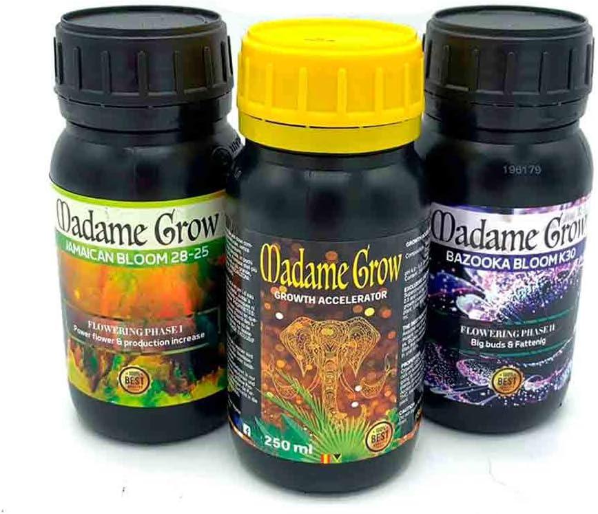 MADAME GROW / Kit 420 Power/TRIPACK/Fertilizantes o abonos Especiales Orgánicos/Poder para Tus Plantas (3 x 250 Ml)