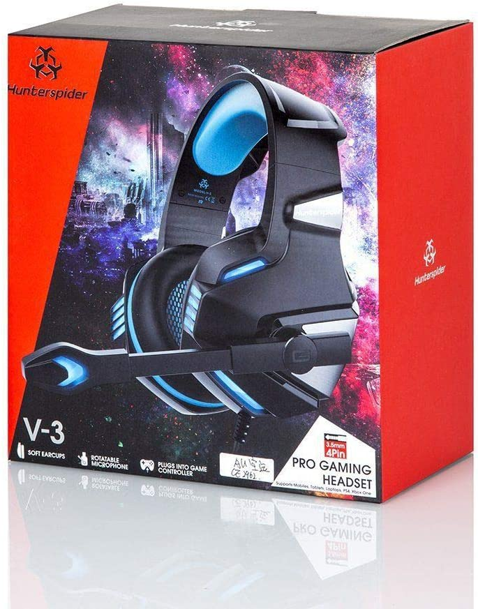 HKJCC Gaming Headset Computer Headset Headphones Illuminated Anti-Noise Subwoofer Gaming Headset Headlights Illuminated Red Blue Straight Insert,Red