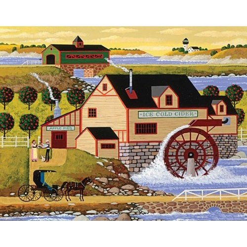 Mega Puzzles: Hometown Collection 1000 piece Old Cider Mill Puzzle