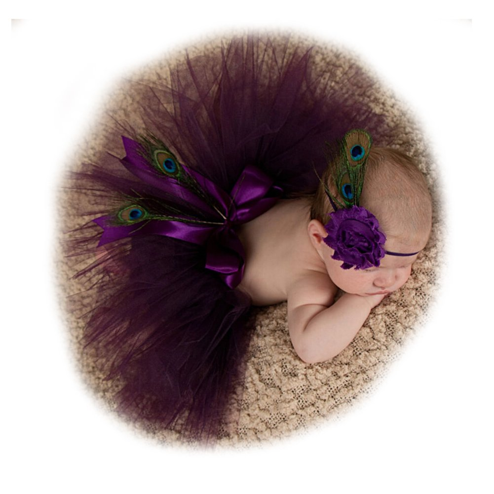 Newborn Girls Photo Photography Prop Tutu Skirt Headband Outfits