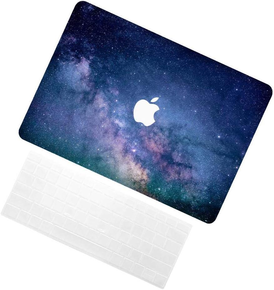 TRUUA Ordinateurs portables pour Newest Macbook Air 13,Starry Sky 7 Conception Modèle Plastique Protective Coques & Keyboard Covers Compatible Macbook Air 13