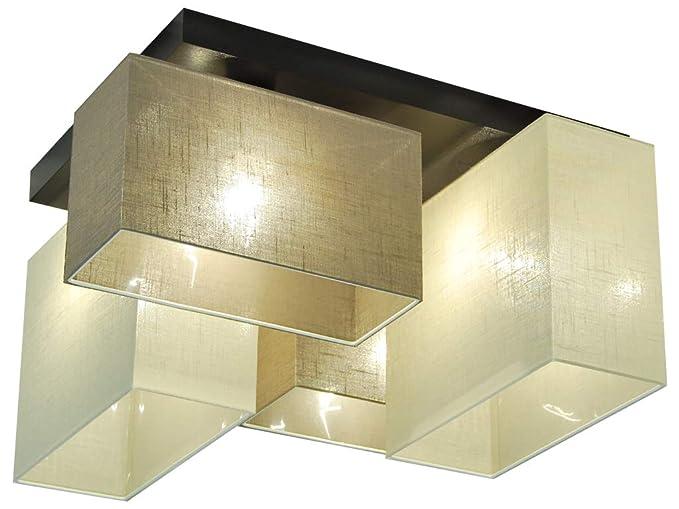 Plafoniere Con Base In Legno : Plafoniera illuminazione a soffitto jls ecd in legno massiccio