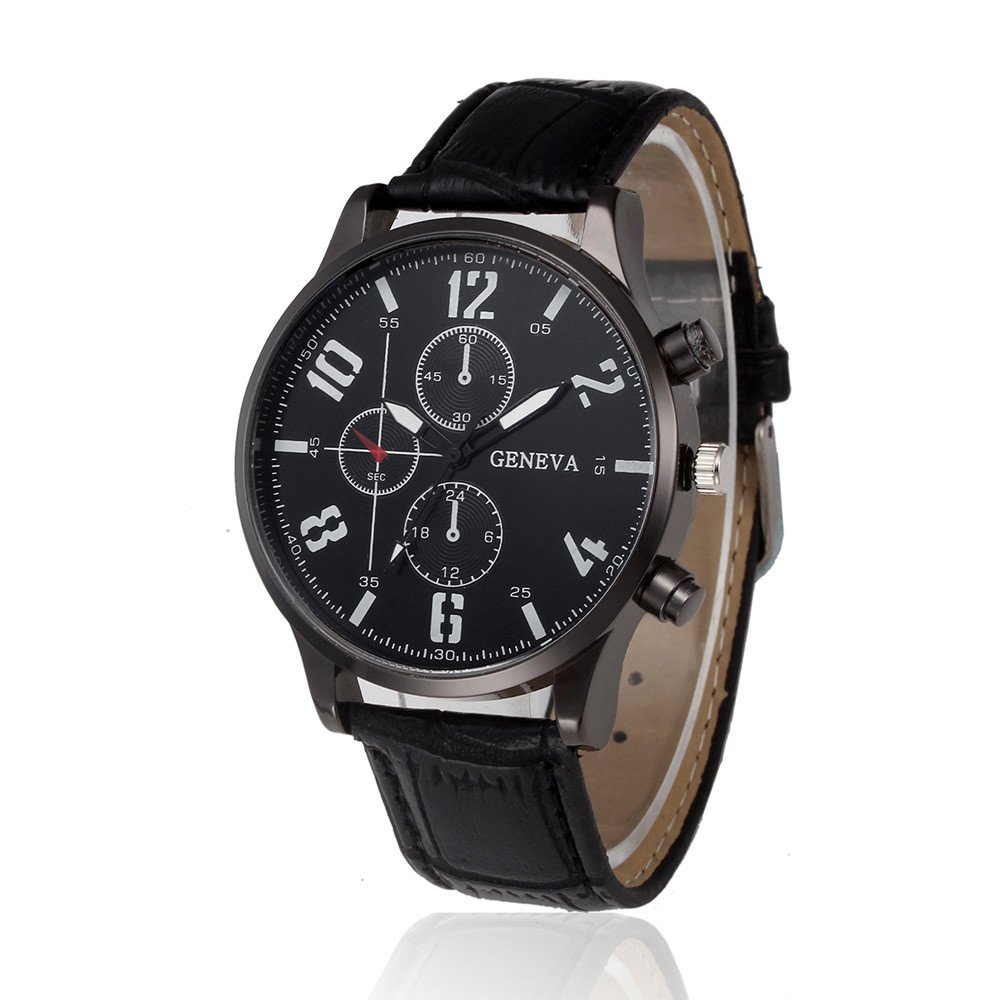 Zaidern Watches Men,Men's Watch Luxury Casual Analog Alloy Quartz Wristwatches Classical Retro Simple Design Business Dress Waterproof Leather Strap Round Dial Wrist Watches Clock Brown