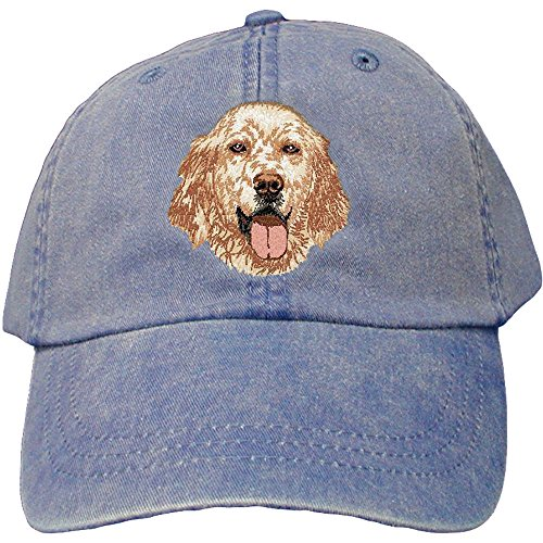 Cherrybrook Dog Breed Embroidered Adams Cotton Twill Caps - Royal Blue - English Setter