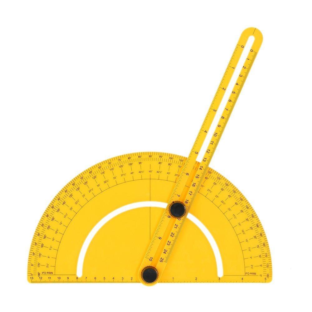 KKmoon 180¡ã 25cm Goniometri Plastica Goniometro Angle Finder Misurare Righello Rule Gauge Pollice Metrico per Artigiani