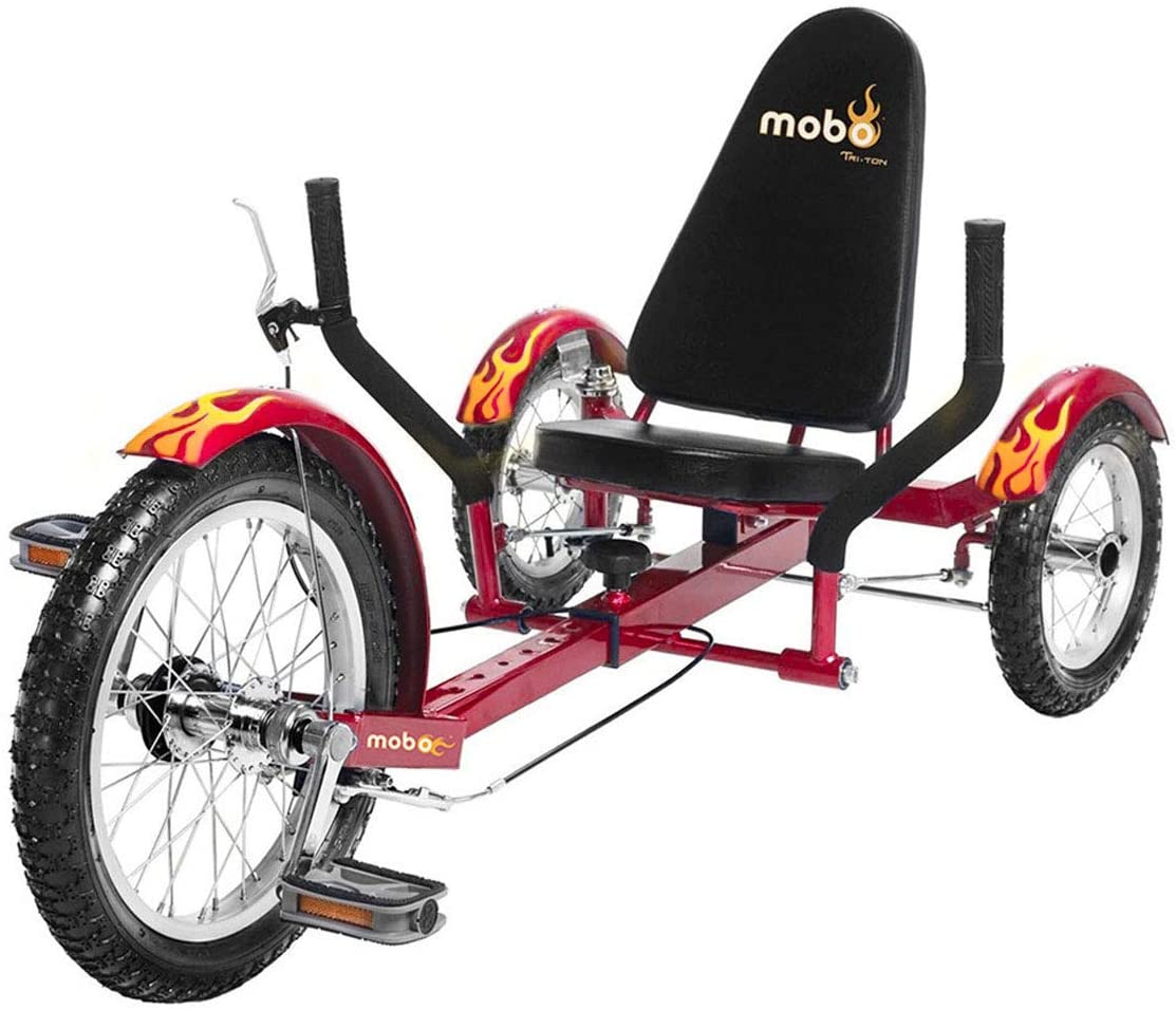 Mobo Triton Pedal Go Kart Trike. Kids 3-Wheel Bike. Youth Cruiser Tricycle