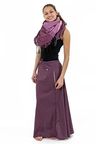 244b8cbc7f0b FANTAZIA Jupe Longue Ethnique Boutons Coton Roses - Taille Unique  Amazon.fr   Vêtements et accessoires