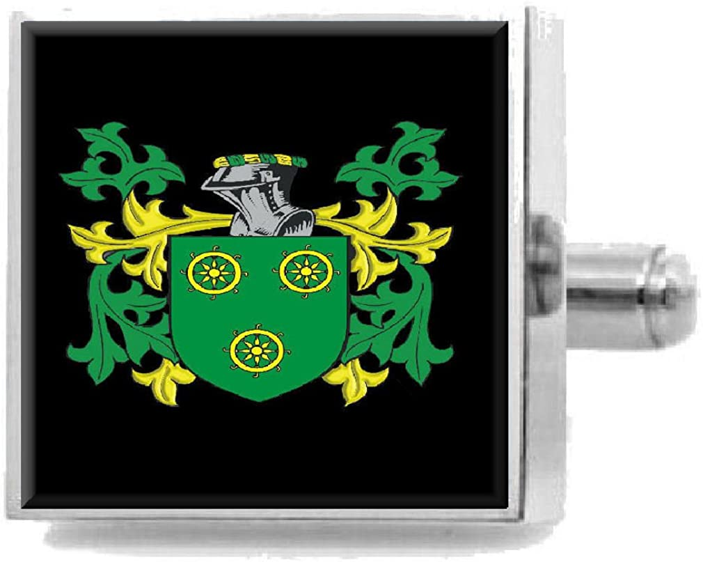 Select Gifts Haye Scotland Heraldry Crest Sterling Silver Cufflinks Engraved Message Box