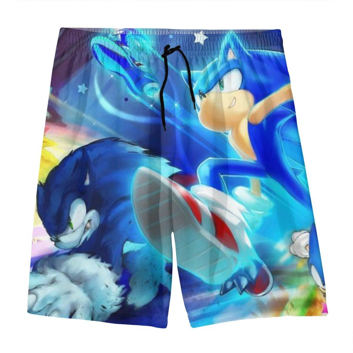 Amazon Com Bargburm Youth Sonic The Hedgehog Swim Trunks Summer