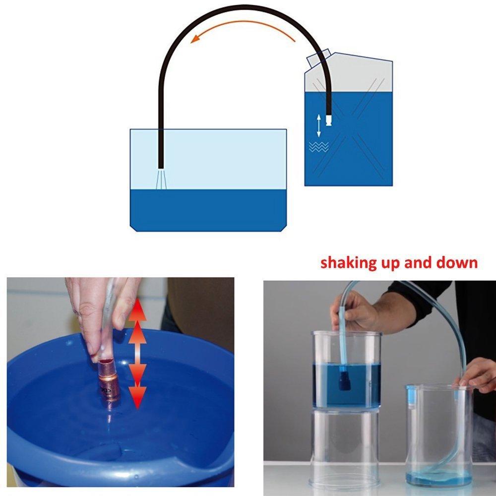 2 Pack Wadoy Siphon Hose Gas//Oil//Water//Fuel Transfer Siphon Hand Pump Self Priming Shaker Hose 6