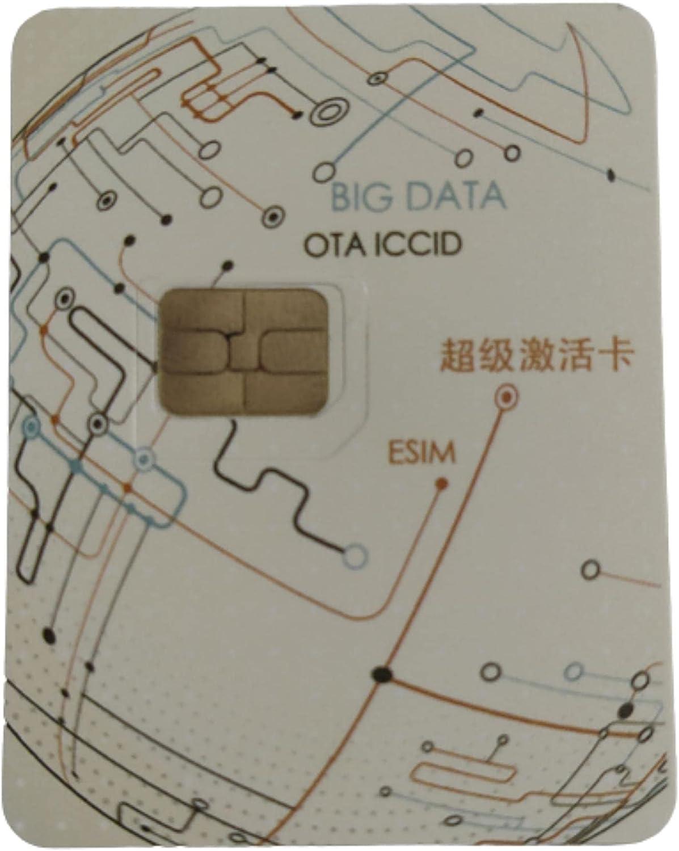 Smart Sim Reusable Unlock Card for iPhone Unlock Chip Card for Apple iPhone 11/12/Xs/MAX/XR/8/7/6/6S/5S/SE Plus/8 Plus Sim for iOS 14 Automatic ICCID Via OTA(Single Card).