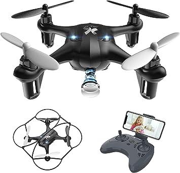 Opinión sobre ATOYX Mini Drone con Cámara para Niños , AT-96 RC Quadcopter con App FPV en Tiempo Real, Drone de Juguete para Niños/Principiantes,Sensor de Gravedad, 3D Flips, Tecla de Despegue/Aterrizaje,Negro