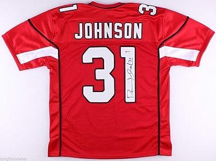 165656d48ef2 Autographed Signed David Johnson  31 Arizona Cardinals Red XL Jersey ...
