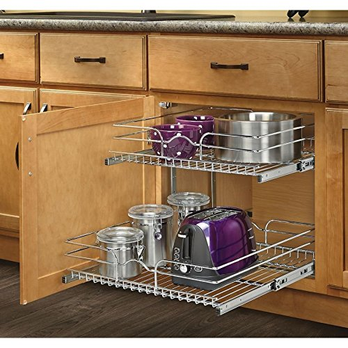 Rev-A-Shelf 2-Tier Metal Pull Out Cabinet Basket 59-21C-2-5