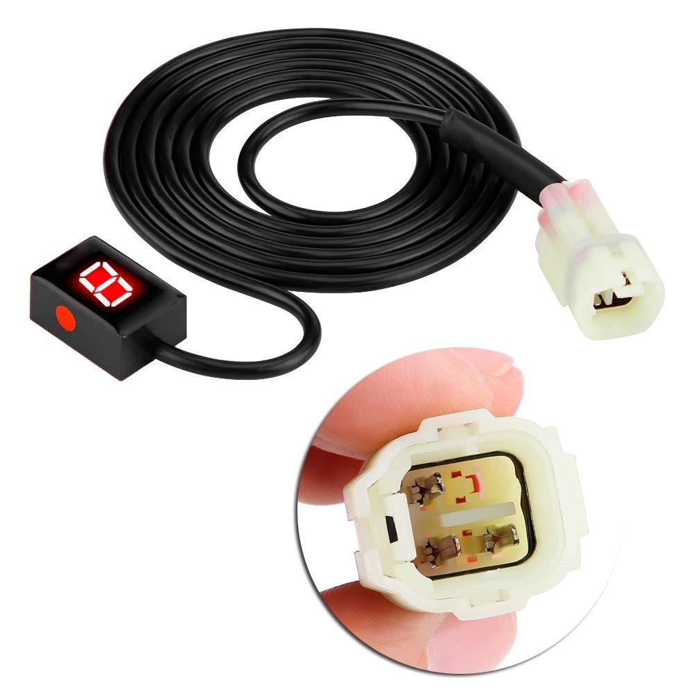 Rojo EBTOOLS Indicador de Engranaje de la Motocicleta Indicador Veloc/ímetro LED Sensores de Palanca de Cambio Digital Indicador de Engranaje Digital