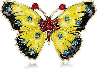 Papillon Broche Broches Bijoux Femmes Épingle Cadeaux Strass Email Décoration