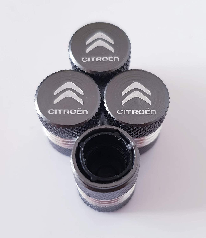 para Todos los Modelos de Coches con Interior de pl/ástico Antiadherente para v/álvulas Speed Demons Tapones Antipolvo para v/álvulas de Citro/ën con Grabado l/áser Color Gris